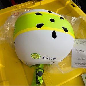 NWT Lime Bike helmet